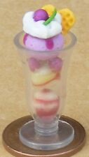 1:12 Scale Ice Cream Sundae In A Glass Tumdee Dolls House Dessert Accessory i89
