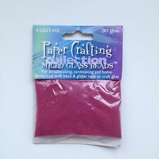 Paper Crafting Collection Micro Glass Beads - Red