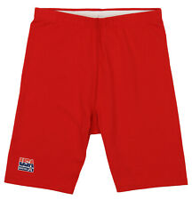 Reebok USA Basketball Womens Vintage Compression Shorts, Red