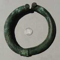 an ancient copper alloy bronze african bracelet mali #179