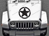 1 x Jeep Renegade Star Stickers for Bonnet Sahara, Wrangler, Rubicon, label #12