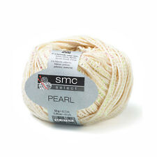 SMC Select Pearl 50g 02225 Cream Cotton Shimmer Knitting Haberdashery #12L164