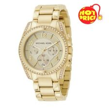 BRAND NEW MICHAEL KORS MK5166 LADIES BLAIR GOLD TONE CHRONOGRAPH WATCH