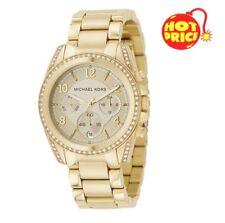 Michael Kors Ladies Blair Gold Chronograph Watch - MK5166