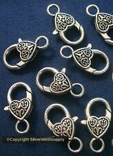 10 Huge lobster claw jewelry clasps 25mm 1in silver plt necklace bracelet fpc262