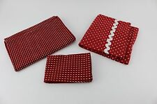 Polka Dots & Dashes Bright Red Decorative Hand towel / napkin Made India by TAG