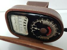 VINTAGE WESTON MASTER 11 EXPOSURE LIGHT METER WITH CASE