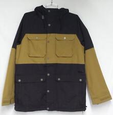 Burton Mens Frontier Snowboard Winter Jacket True Black Falcon Khaki Size XL NEW