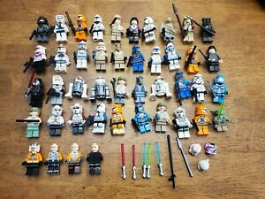 LEGO Star Wars Minifigure Lot of 40 + Droids Yoda Storm Troopers Ewoks and more!