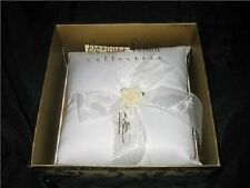 NEW Beverly Clark Paper Rose WEDDING RING Bearer PILLOW Boy Rings Ivory Rosette