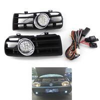 Front Bumper Grill Fog Light Lamp Grille LED for VW Golf MK4 97-03 03 02 01 B00B