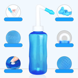 500ml Sinus Allergy Relief Neti Pot Nose Nasal Cleaner Wash Rinse Bottle tool wh