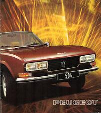 Peugeot 504 Coupe & Cabriolet V6 1974-75 French Market Sales Brochure