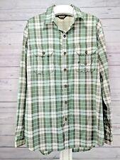 Guide Gear Vented Fishing Hiking Shirt Men's Size XL Green Plaid (x1)
