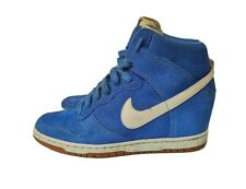 Nike Dunk Sky High UK 6 Bright Blue wedge trainer boots