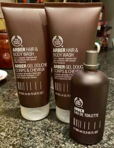 The Body Shop   Men   Arber   1 x EDT & 2 x Hair and Body Wash   New