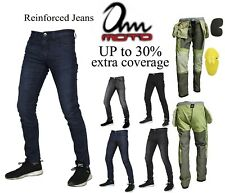 Mens motorcycle jeans motorbike Trouser Slim Tapered Aramid jeans free CE Armour
