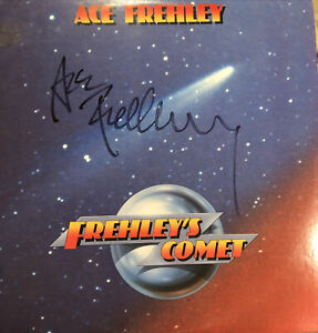 Kiss Solo LPs Originally Autographed By Frehley Vincent