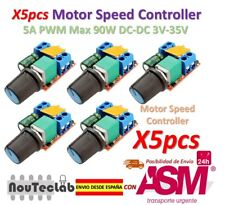 5pcs 5A PWM Max 90W DC Motor Speed Controller Module 3V-35V Switch LED Dimmer