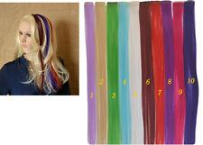 Haarverlängerung einfarbig glatt lang clip in extension Haarsträhnen Halloween