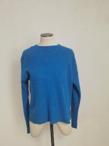 Jigsaw Izumi Cashmere Boxy Crew Azure Blue Size M RRP £160.00