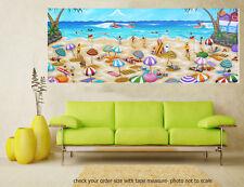 Art Painting Original canvas Print Beach seascape Byron Bay Andy Baker Australia