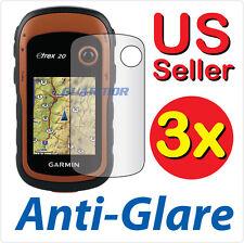 3x Anti-Glare LCD Screen Protector Guard Film Garmin eTrex 10 20 20X 30 30X GPS