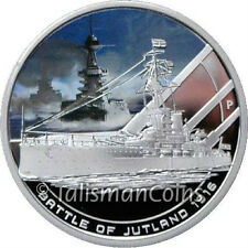 Cook Islands 2011 Famous Naval Sea Battles 4 Jutland 1916 $1 Silver Color Proof
