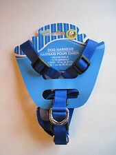 """Paws N Claws BLUE Durable Nylon Adjustable Dog Harness (15""""-23""""), FREE S&H"""