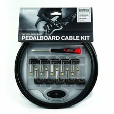 Patch Cable 10ft Effects Pedal Board Kit DAddario DIY Solderless Electric Guitar