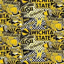Wichita State University Fabric Pop Art Graffiti Sykel Quilt Shop Quality Cotton