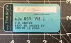 Vintage J. C. Penny Co. Credit Card The Penny's Card FREE SHIPPING