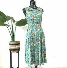Hearts and Roses Floral Dress Size 14 Fit and Flare Sleeveless Party Rockabilly