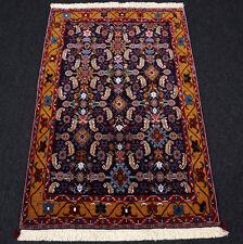 Orient Teppich 130 x 86 cm Perserteppich Dunkelblau Mahi Fisch Muster Carpet Rug
