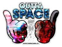 Outta Space Aufkleber Sicker JDM Tuning Stickerbomb Autoaufkleber Fun Cool