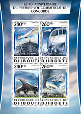 Djibouti 2016 MNH Concorde First Commercial Flight 4v M/S Aviation Stamps