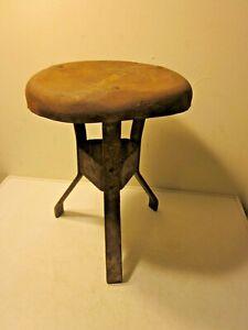 Vintage /Antique 3 Leg Metal Milking Stool  *Ames Way*