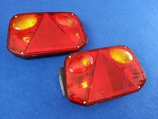Pair of RADEX 2800 Rear Car Trailer Lights Clusters 6 Function Quick Fit + Bulbs