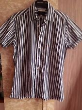 ben sherman , shirt size small. slim fit, italian cloth, blue stripes