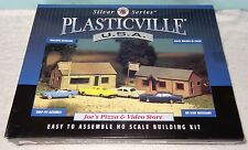 Joe's Pizza and Video Store , HO, Bachmann-Plasticville Silver Series #45526