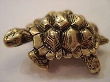 G  kleine Schildkröte die Figur Metall-Messing Mini Miniatur den 3 х2 Zentimeter