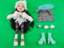 """Bratz 10"""" doll black hair winter outfit extra boots coat coffee cup"""