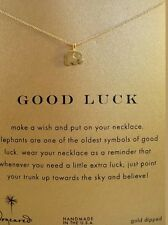 "Dogeared Gold Dip Good Luck Elephant Reminder 16"" Necklace"