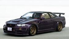 1/18 Nissan Nismo r34 Z Tune Midnight purple Modified Rays wheels umbau jdm otto
