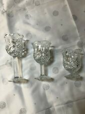Homco set of 3 Crystal Candle Holder Made in Usa