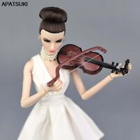 1/6 Doll Accessories Musical Instruments for Barbie Doll DIY Violin for BJD Doll