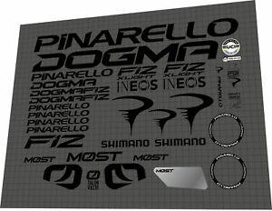 2021 PINARELLO DOGMA F12 XLIGHT  matte black DECAL SET