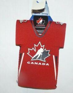 NEW Team Canada Ice Hockey Bottle Jersey Neoprene Coozie  NWT