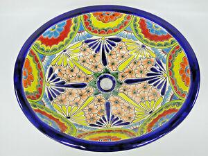 "21"" X 17"" TALAVERA SINK drop in or undermount mexican bathroom handmade ceramic"
