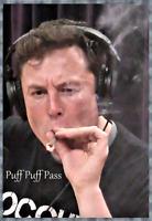 """ELON MUSK - PUFF PUFF PASS - REPRINT 13"""" x 19"""" POSTER"""